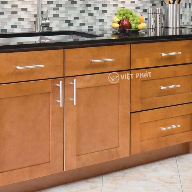 Tủ bếp inxo giả gỗ chính là sự lựa chọn đắt giá cho căn bếp