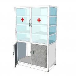 Tủ inox đựng vật liệu y tế